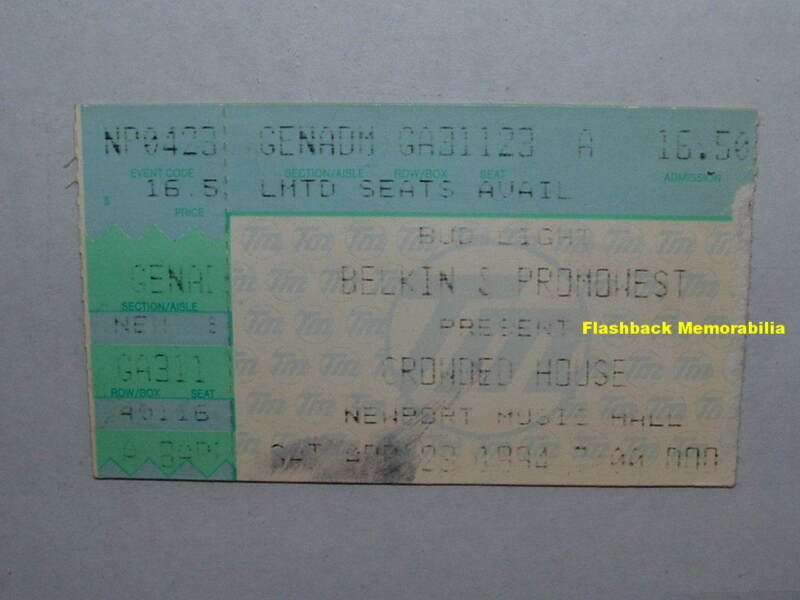 CROWDED HOUSE 1994 Concert Ticket Stub COLUMBUS OHIO Newport Music Hall RARE