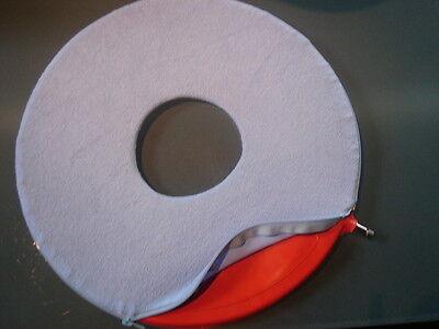 Gummi-Sitzring m.Bezug 42,5 cm sehr stabil -Dammschnitt - Dekubitus-Hämorrhoiden