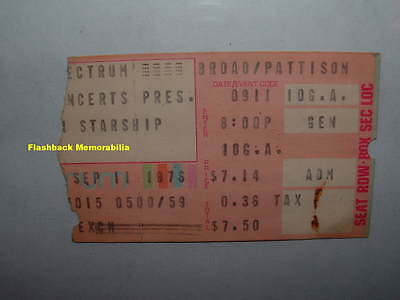 JEFFERSON STARSHIP 1976 Concert Ticket Stub PHILADELPHIA SPECTRUM Paul Kantner