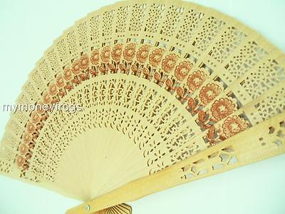 Wedding Shower Favor Chinese Bridal Party Wood Wooden Folding Hand Summer Fan #g
