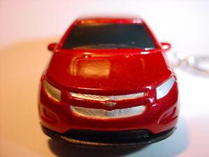 NEW-DARK-RED-2011-CHEVROLET-VOLT-CUSTOM-KEYCHAIN-fob-KEY-EV-electric-car-2012