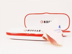 NEW-2-WHITE-spectacle-MORGAN-Designer-two-glasses-spectacle-Hard-case-cloth-Twin