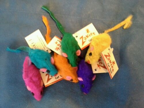 Zanies Rainbow Mice Cat Toys. 4/$2.50