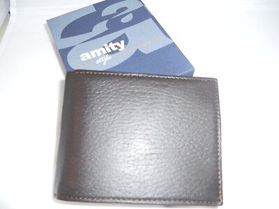 Amity Coin Billfold Leather Wallet,brown, Style 1099