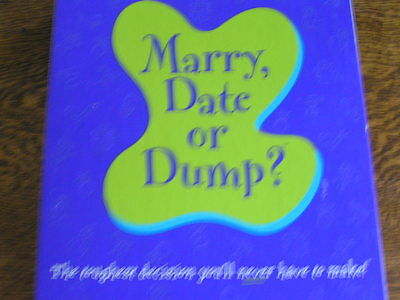 2003 Hasbro/parker Brothers Marry, Date Or Dump? Adult Choice Gamenever Played