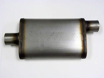 Center Offset 2.5 Inch Exhaust Oval Muffler Silencer M
