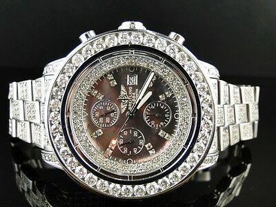 Brand New Mens Breitling Super Avenger 1 Row Big 53 Mm Diamond Watch 32 Ct