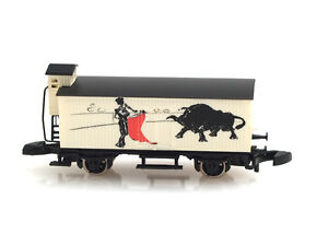 Marklin-Z-scale-Bull-fight-Matador-freight-car-Special-Edition
