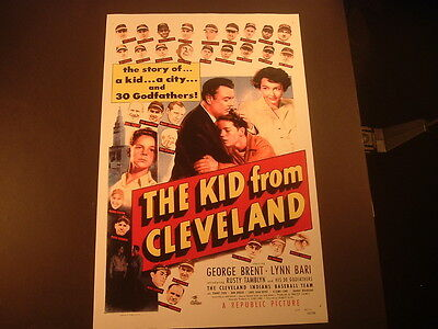 Repro 1940's The Kid from Cleveland 11 x 17 Cleveland Indians Movie Poster