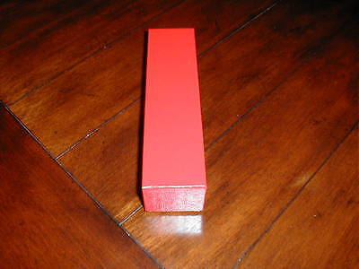 1 Red Cardboard Storage Box 2x2x9 For 2x2 Coin Holders Flips + 2016 P D Cent
