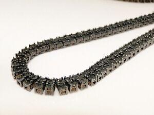 Mens-2-Row-Fanook-Black-Rhodium-With-Black-Diamond-Chain-4-0-Ct