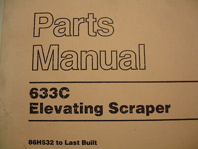 Caterpillar 633C Elevating Scraper Service Parts Manual Catalog Book 86H532 Last