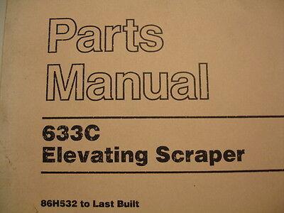 Caterpillar 633C Elevating Scraper Service Parts Manual Catalog Book 86H532 Last
