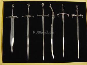 Set-6pcs-Lord-of-The-Rings-Letter-Opener-Swords-Knives-Knife-LRK1