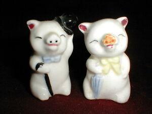 Mr-amp-Mrs-Pig-Top-Hat-Cane-Umbrella-Salt-Pepper-Shakers-CUTE