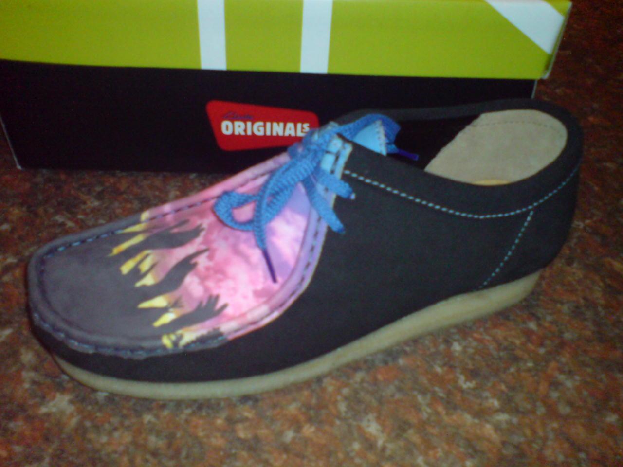 Clarks Originals X Wallabees Black Multi , Leather Shoe Uk 9.5