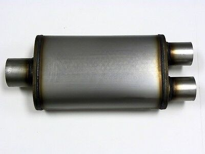 3 Inch In / 2.5 Dual Out Exhaust Truck Suv Muffler M