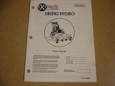 Exmark Viking Hydro Walk Mower Parts Manual