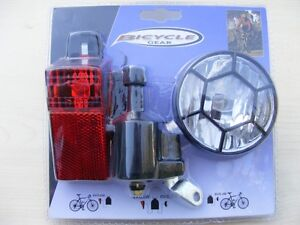 Bicycle Dynamo Lights Set Bike Safety No Batteries Required