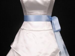 Light-Blue-Double-Faced-Satin-Ribbon-Sash-Bridal-Wedding-Bridesmaid-Brand-New