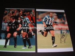 SHEFFIELD WEDNESDAY FC PAOLO DI CANIO SIGNED (PRINTED) + REFEREE PUSHED PHOTOS