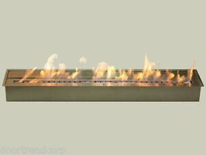 IGNIS-Ethanol-Burner-Fireplace-Insert-39-Long-Double-Layer-Stainless-Steel