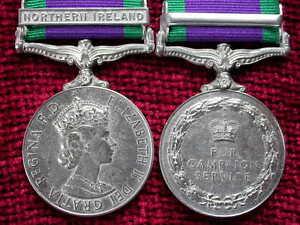Replica FULL size NI  Bar Campaign Service Medal aged