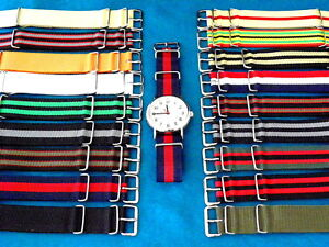 BRITISH-MILITARY-STYLE-G-10-WATCH-BAND-STRAP-fits-NATO-country-issued-watches