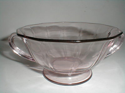 Fostoria Elegant Glass FAIRFAX ORCHID Purple Cream Soup Bowl