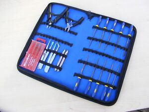Craft Model Hobby Tools Kit 4 Airfix Modellers Tamiya Revell + Zip Up Case