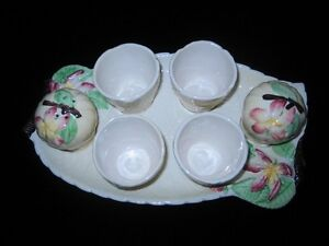 Carlton Ware - Apple Blossom Cruet & 4 Egg Cup Set