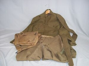 WWI American Doughboy Medics Uniform - Jacket, Trousers, Satchel & Belt