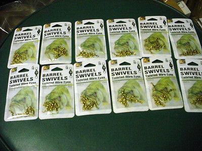 12 Packs Of Danielson Brass Barrel Swivels Size 10 With 8 Swivels Per Pack