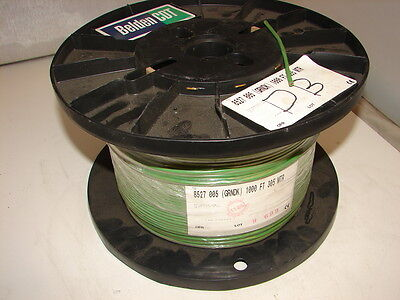 Belden 8527 005 Green Cable 1000' Ft 12 Awg Gauge Pvc Hook Up Wire
