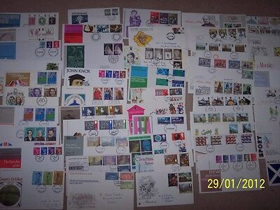 100 GB  First Day Covers - excellent for used Commemoratives /  FDC collector