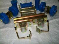 Boat Trailer Blue Non Marking Single And Keel Dumbell Roller Kit 2s3d16 - m&band b accessories - ebay.co.uk
