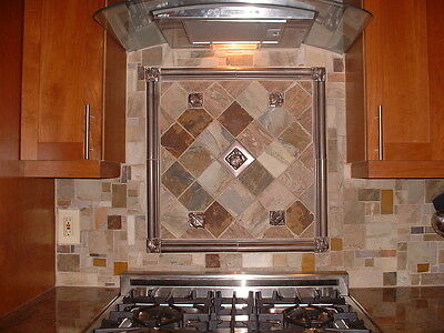 SLATE MOSAIC TILE RANDOM PATTERN Flooring Walls Backplash FREE PRIORITY SHIPPING