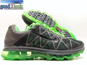 NIKE AIR MAX+ 2011 COOL GREY/BLACK-LIME SIZE MEN'S 13