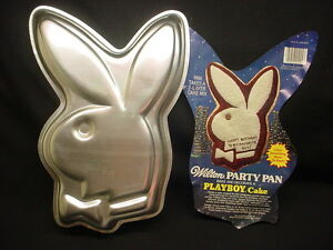 Wilton-PLAYBOY-BUNNY-cake-pan-Bachelor-Party-baking-mold-tin-INSERT-PLAY-BOY