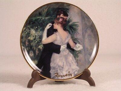 Goebel-artis Orbis 'danse En Ville' Dance Plate With Holder Renoir-126562