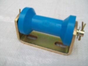 90mm  BLUE  Keel Dumbell Roller and Bracket for Boat Trailer 10