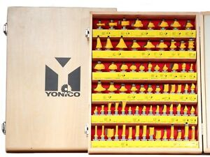 70 Bits Professional Quality Router Bit Set Carbide 1/2