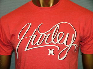 HURLEY-Premium-Fit-RED-WHITE-BLACK-Skate-SKATEBOARD-Surf-GRAPHIC-T-SHIRT-MENS-XL