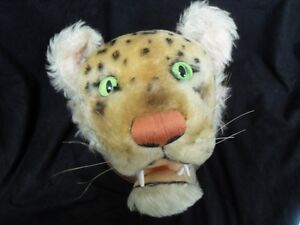 Vintage-Steiff-Trophy-Head-RARE-Mounted-Leopard-Mohair-Cat-STUFFED-ANIMAL