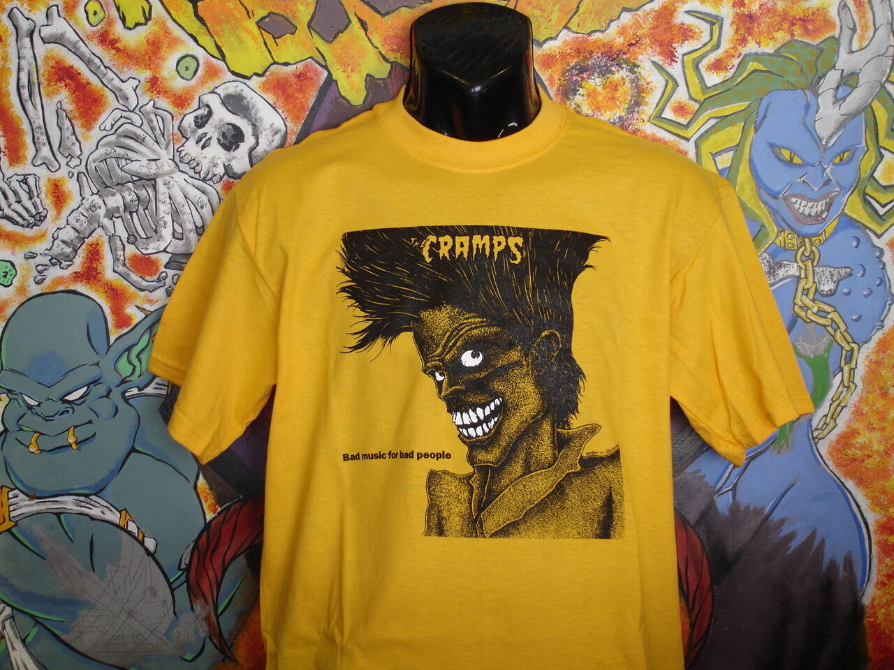 The Cramps bad Music.. Shirt Lux Interior Poison Ivy Punk Rockabilly