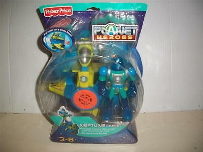 FISHER PRICE PLANET HEROES NEPTUNE TUNE ACTION FIGURE VEHICLE TRADING CARD 2007