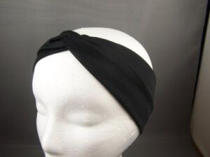 Black turban twist fabric headband Stretch Elastic 3