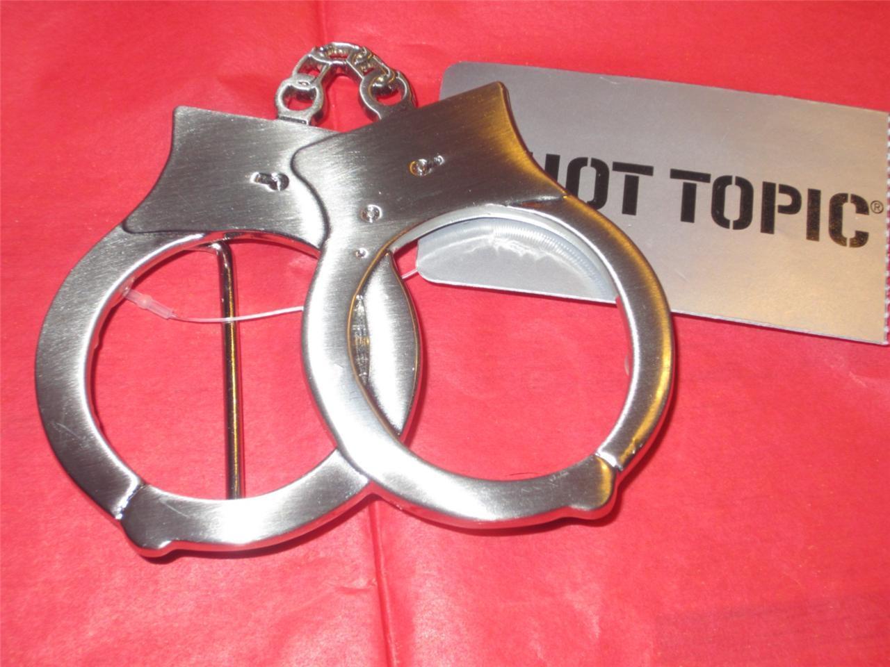 Hot Topic Hand Cuffs Metal Belt Buckle