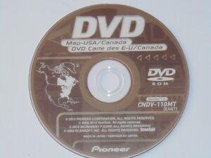 2012 PIONEER CNDV-110MT (EAST DISC) NAVIGATION DVDS 2012 GPS MAPS AVIC N & D