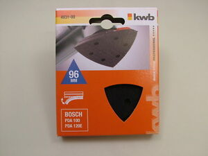 Backing pad velcro fit Bosch PDA100/120E detail delta sander European 96x96x96mm